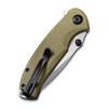 CIVIVI Pintail Olive Micarta (C2020B) closed clipside