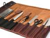 Knife Roll Company Torino Ranch Dark Brown 10 Slot Knife Roll (KR21002) flat filled