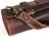 Knife Roll Company Torino Ranch Dark Brown 10 Slot Knife Roll (KR21002) close up strap