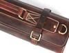 Knife Roll Company Torino Ranch Dark Brown 10 Slot Knife Roll (KR21002) close up buckles