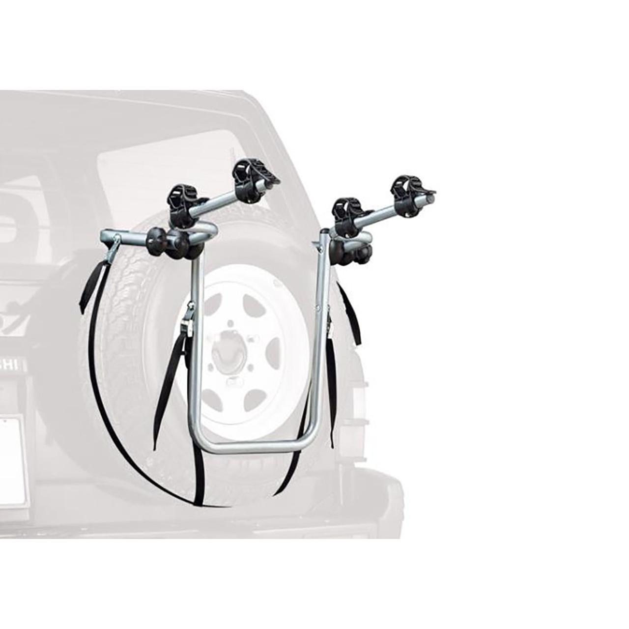 Peruzzo Car Racks Spare Tyre Fitting 4X4 2 Bike Carrier Silver