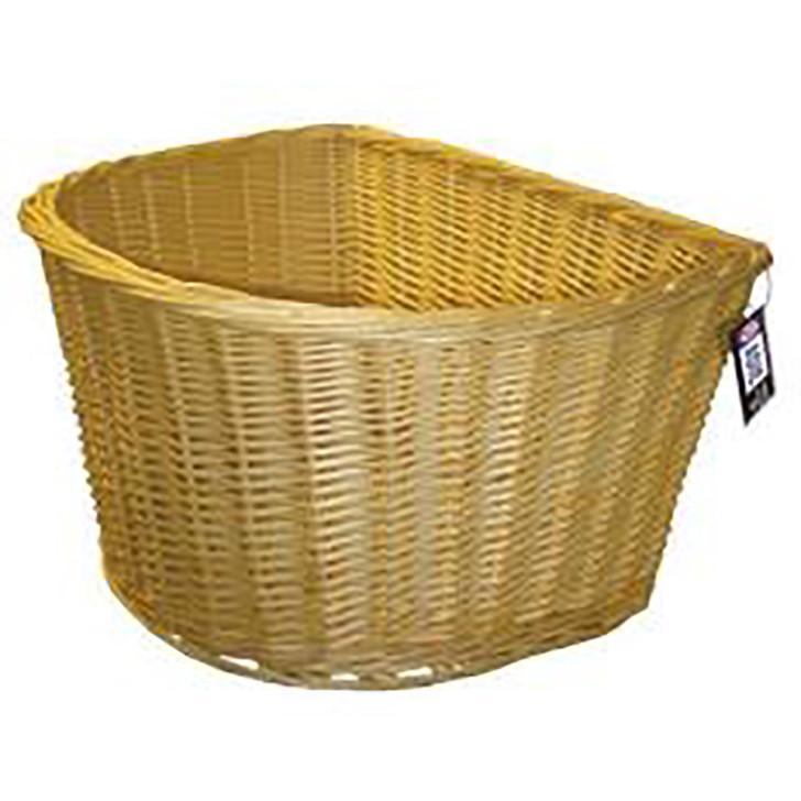 Adie Wicker Bicycle Basket D shape 18 Inch