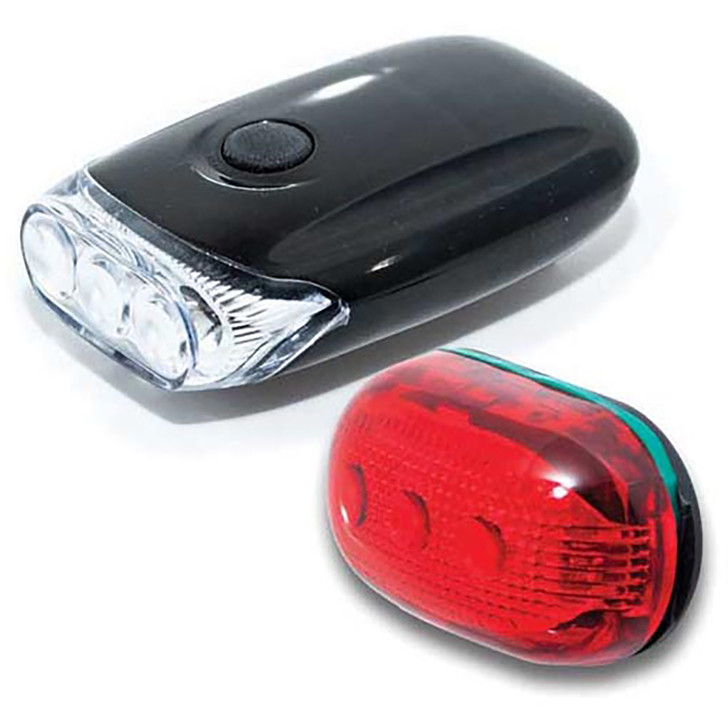 Raleigh 3 LED Front + 5 LED Rear Bicycle Light Set