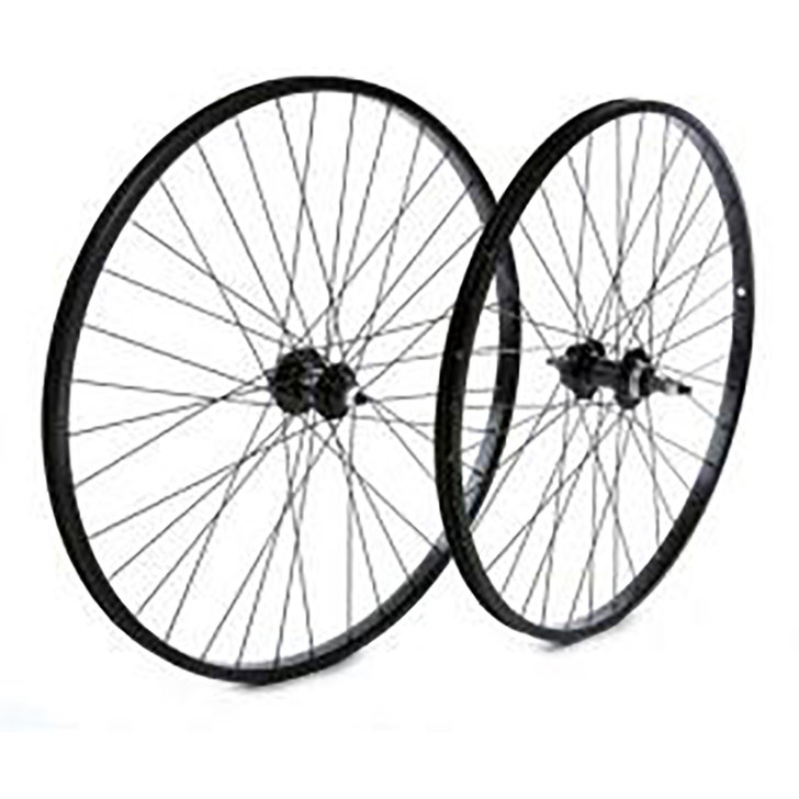 Tru-Build Rear 6 bolt disc wheel 26x1.75 alloy double wall rim black, hub thread (5489)