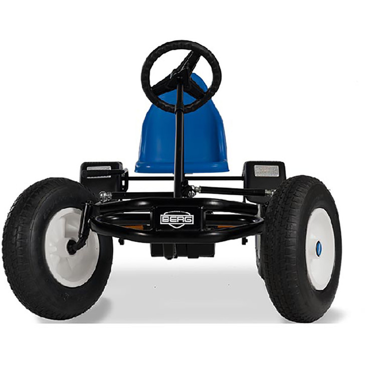 Berg Extra BFR Blue Pedal Go Kart (5 yrs +) plus free passenger seat Front View - Eurocycles