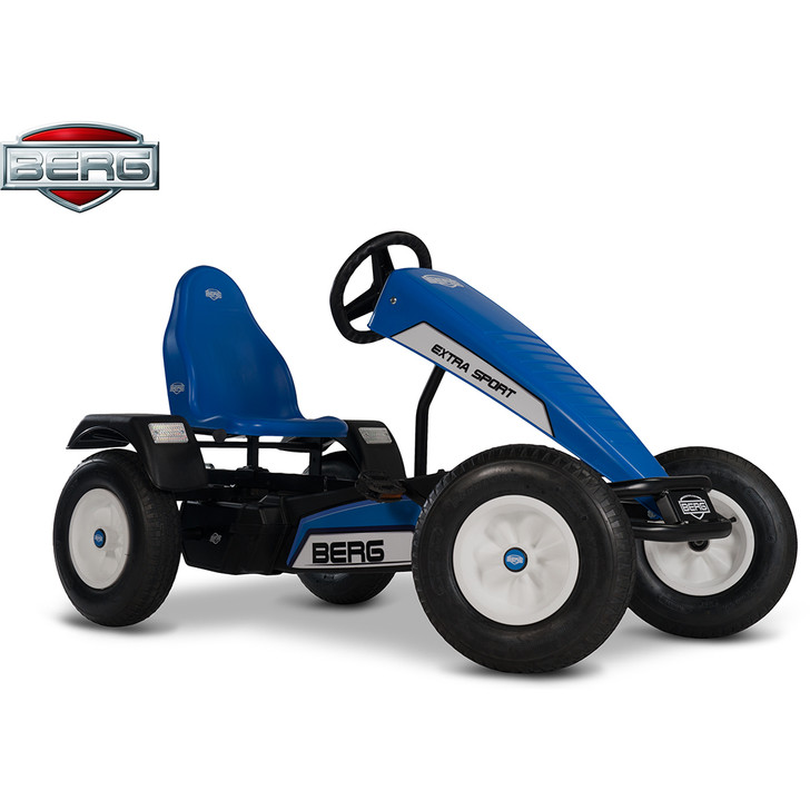 Berg Extra Sport BFR Blue Pedal Go Kart (5 yrs +) side view - eurocycles