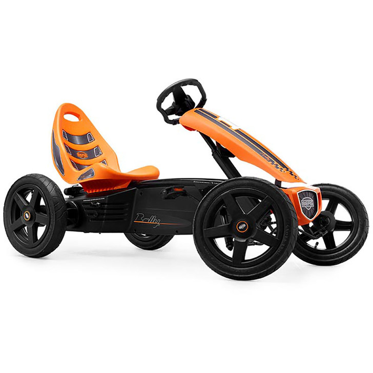 Berg Rally Pedal Go Kart Orange (4 - 12 yrs)_1 - Side View - Eurocycles