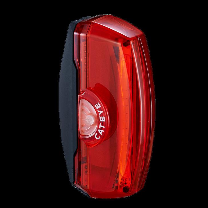 Cateye Rapid X3 Usb Rechargeable Rear Light- Side view light off