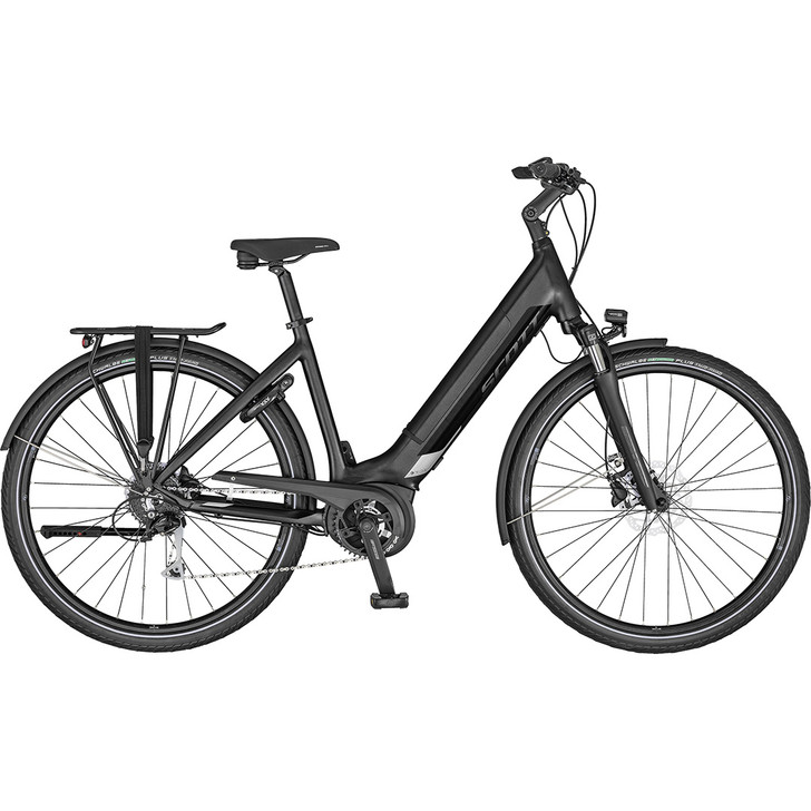 Stylish urban electric bike Scott Sub Tour 20 Unisex with Bosch Active Plus drive system