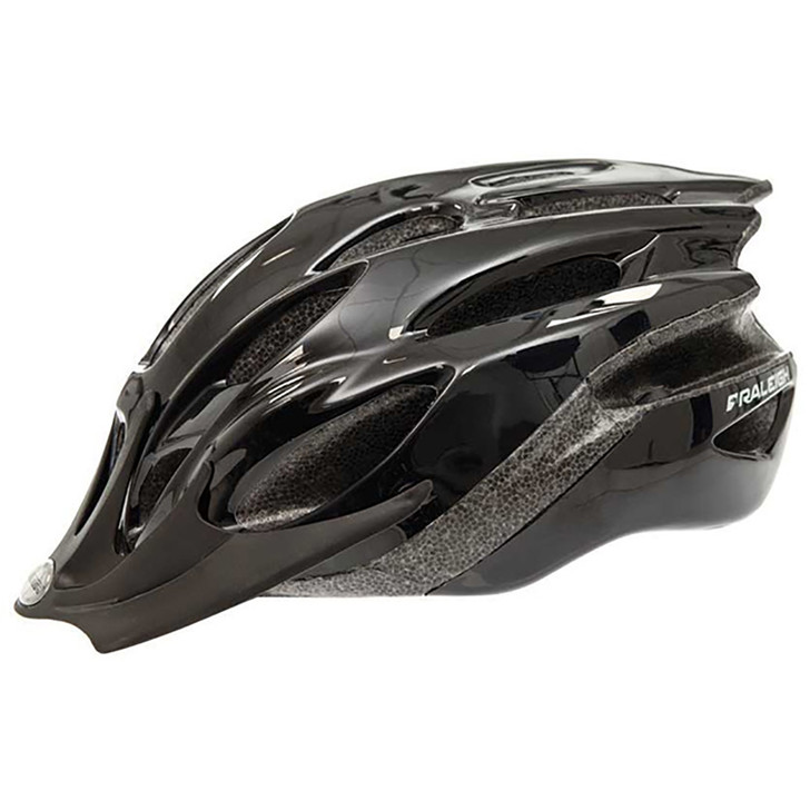 Raleigh Mission Evo Bicycle Helmet Black - Eurocycles