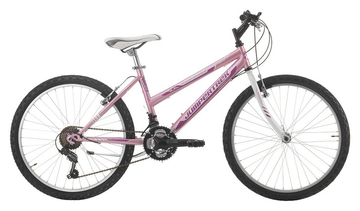 "Jumpertrek Snake 24"" Kids Mountain Bike Pink Side - 7 to 10 years old - Eurocycles"