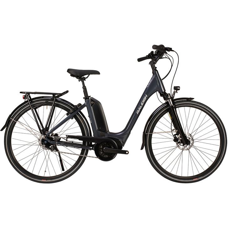Raleigh Motus Tour Lowstep Hub Electric Bike - Grey  - Eurocycles