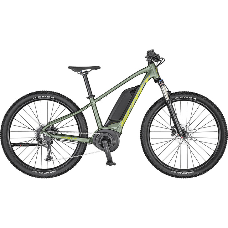 Stunning looking kids electric bike Scott Roxter eRide 26 in Green