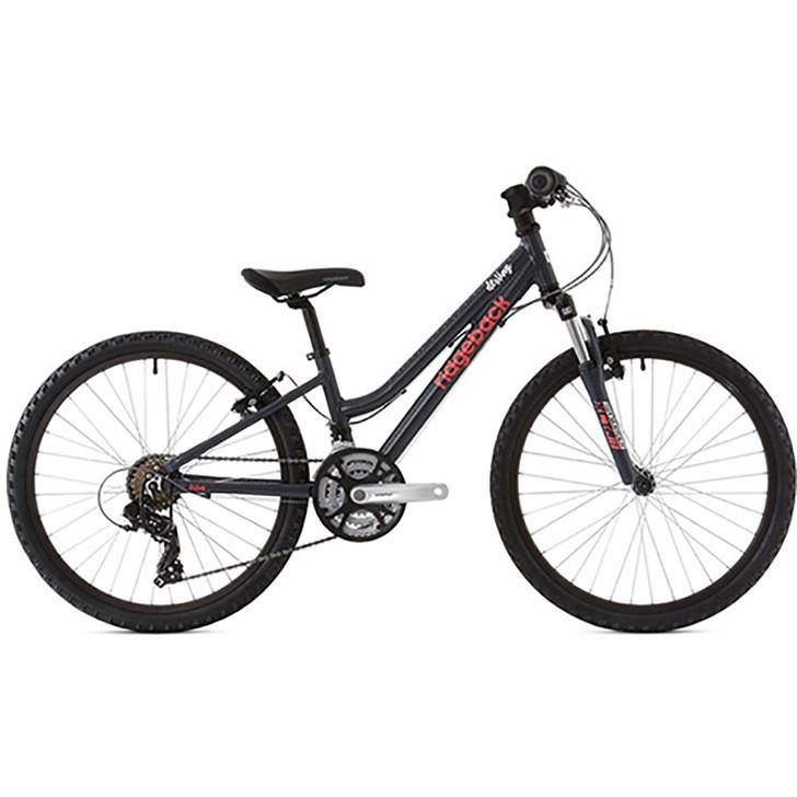 "Ridgeback Destiny 24"" Boys Bike Side   - Charcoal - 9 to 11 years old - Eurocycles"