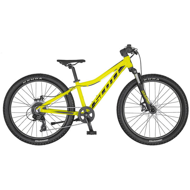 Scott Scale 24 Disc Yellow/Black Bike (2020) - 9 to 11 years old  full view on sale on eurocycles.com