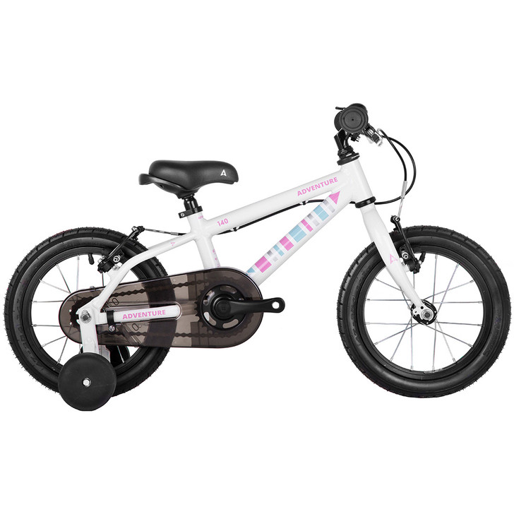 "Adventure Outdoor Co. 140 Girls 14"" bike  3 to 5 years old - white on sale eurocycles.com"