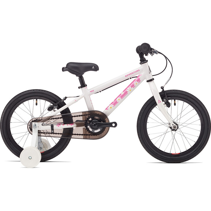 Adventure Outdoor Co. 160 Girls 16 Inch Bike white on sale eurocycles.com