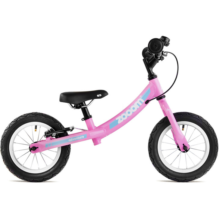 Adventure Zooom Pink Balance Bike for boys and girls 2 to 4 years old.