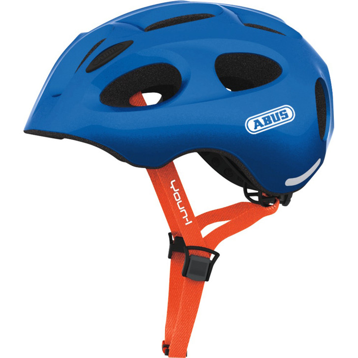 Abus Youn-I helmet in blue with abus logo details