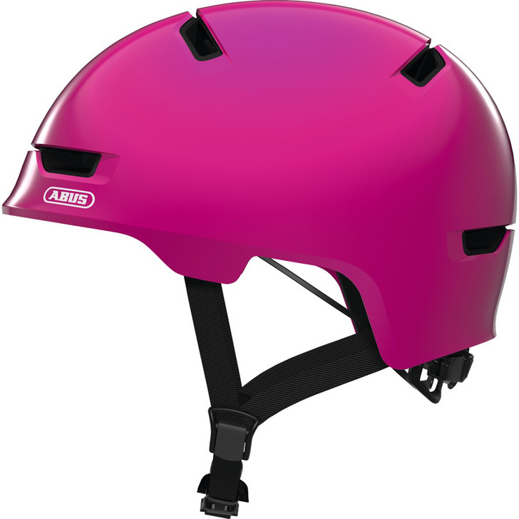 Abus Scraper kid 3.0 Helmet in pink with ABS hard-shell technology