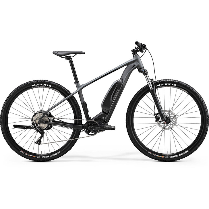 Merida eBig Nine 300 Electric Mountain Bike 2020 collection with Shimano drive system and sleek intube battery