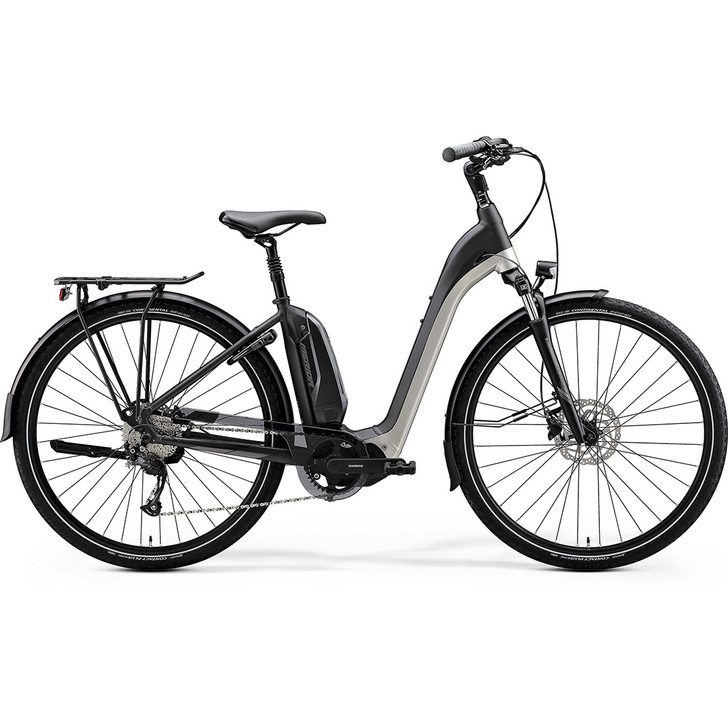 Merdia eSpresso City 200 EQ Hybrid Bike with Shimano drive unit, intube battery and groupset, lights, Abus frame lock and mudguards included