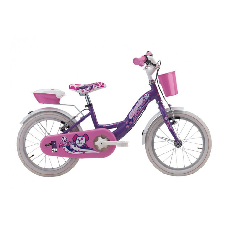 "Cicli Cinzia Puppies 16"" Girls Bike - Purple - 5 to 7 years old"