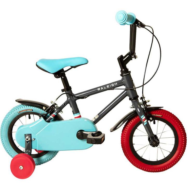 "Raleigh Pop 12"" Boys Bike - Black - 2 to 4 years old"