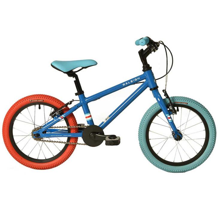 """Raleigh Pop 16"""" Boys Bike - Blue"""