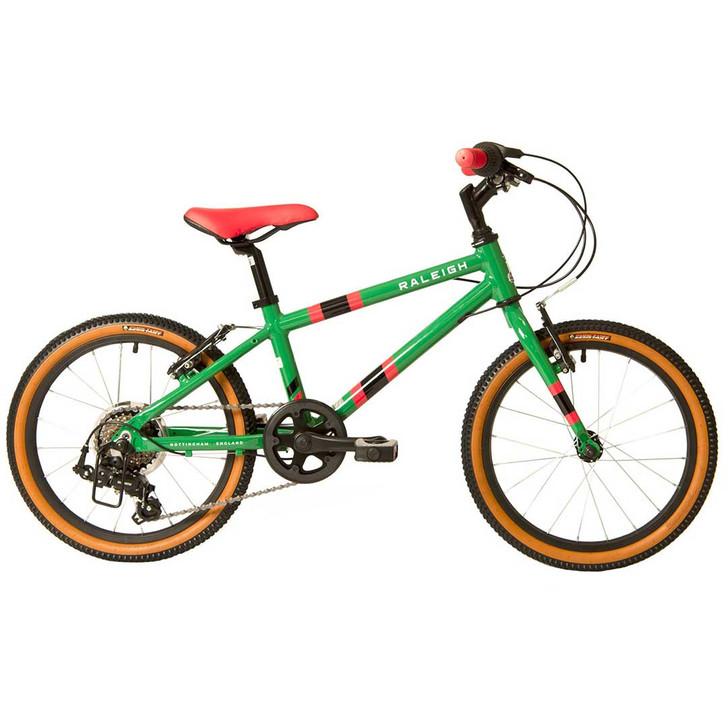 """Raleigh Pop 18"""" Boys Bike - Green"""