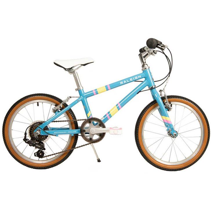 """Raleigh Pop 18"""" Girls Bike - Light blue"""