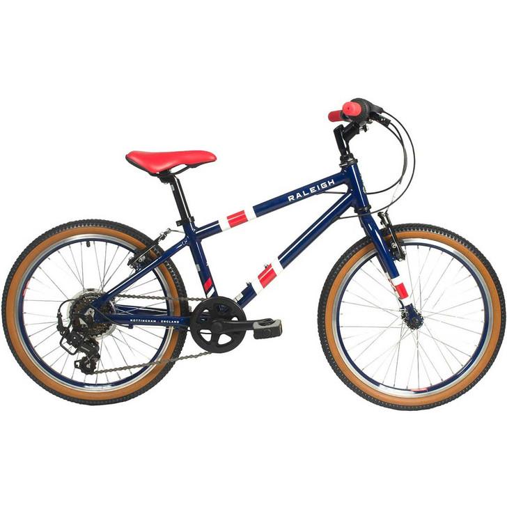 """Raleigh Pop 20"""" Boys Bike - Dark Blue"""