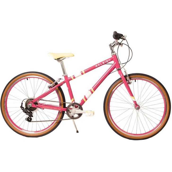 "Raleigh Pop 24"" Girls Bike - Cherry"