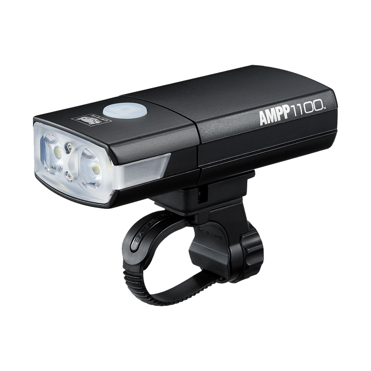 Cateye AMPP 1100 Front Light USB Rechargeable- Side view