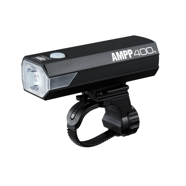 Cateye Ampp 400 Front Light USB Rechargeable- Side view