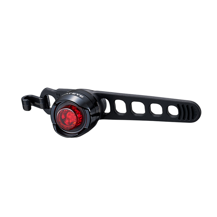 Cateye Orb Rechargeable Rear Light- Front view with strap
