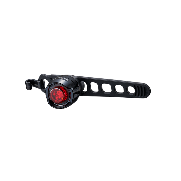 Cateye Orb Battery Rear Light- Front view with strap