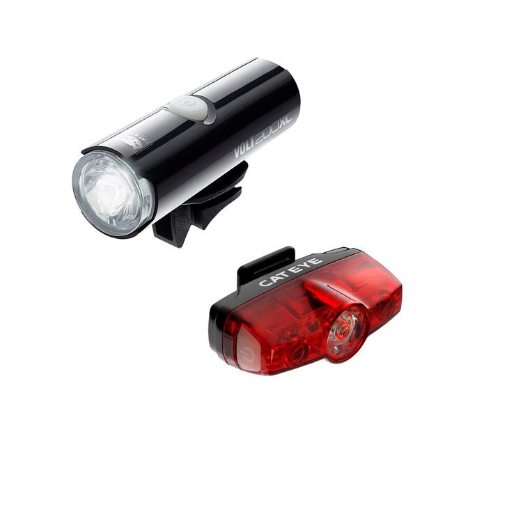 Cateye Volt 200 XC Front & Rapid Mini Rear USB Rechargeable Light Set