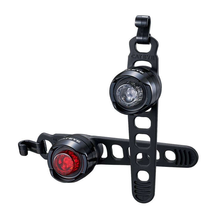 Cateye Orb Set Front/Rear Rechargeable Bicycle Light Set- Front & Rear light with strap