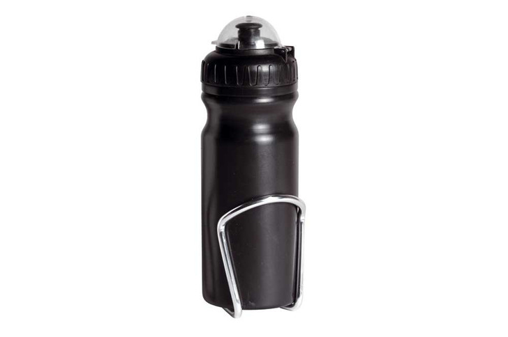Raleigh Water Bottle & Silver Bottle Cage