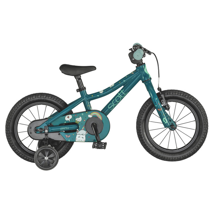 "Scott Contessa 14"" Girls Bike - Blue/Green - 3 to 5 years old"