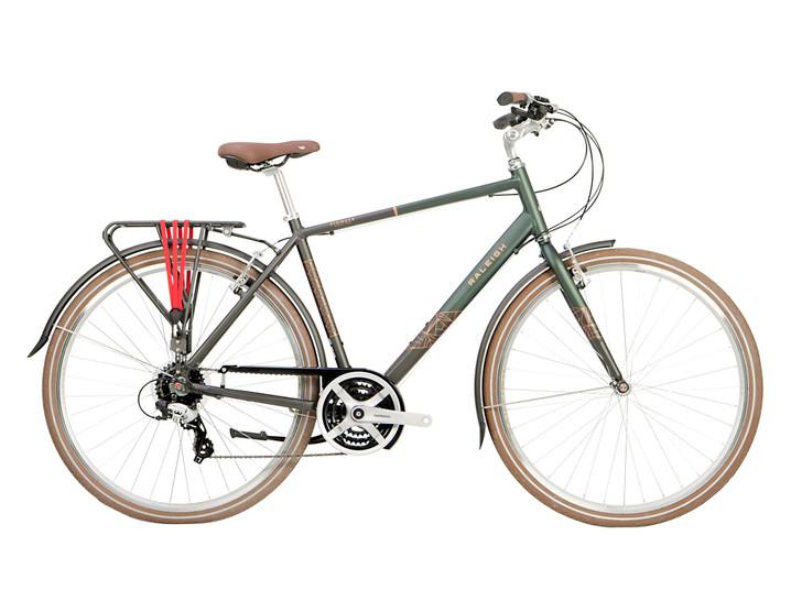 Raleigh Pioneer Grand Tour Mens Hybrid Bike - Green/Black