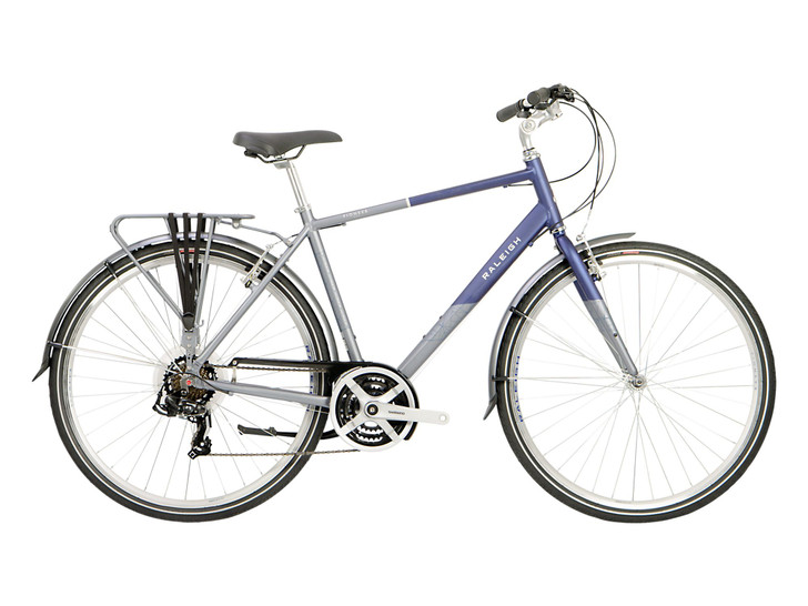 Pioneer Tour Mens Hybrid Bike - Blue/Silver