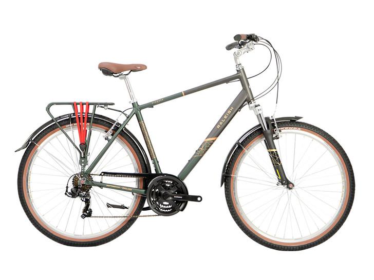 Raleigh Pioneer Trail Mens Hybrid Bike - Green/Black