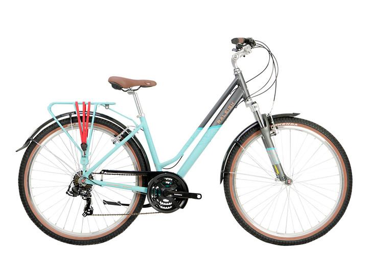 Raleigh Pioneer Trail Ladies Hybrid Bike - Aqua/Silver