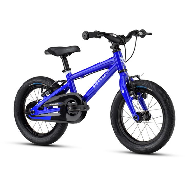 "Ridgeback Dimension 14"" Kids Bike - Blue - 3 to 5 years old"