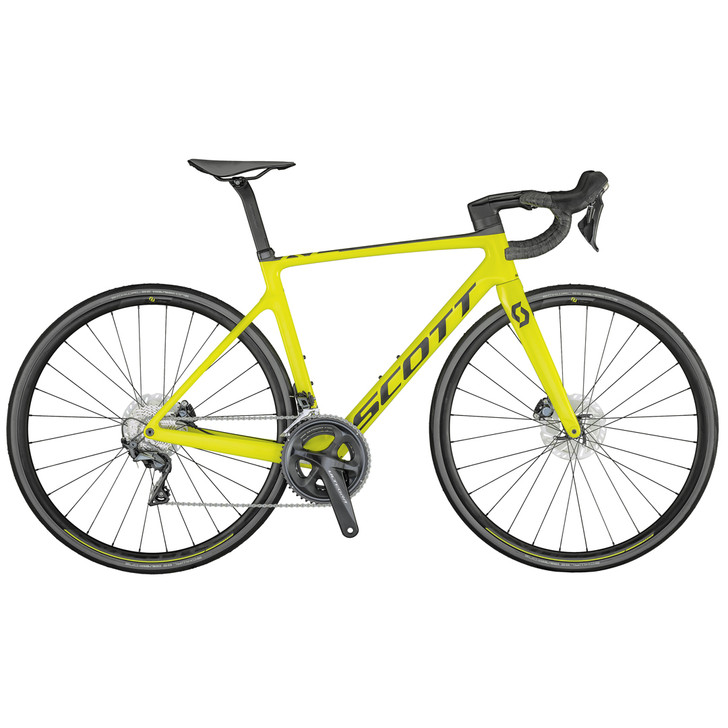 Scott Addict RC 30 Yellow Road Bike (2021)
