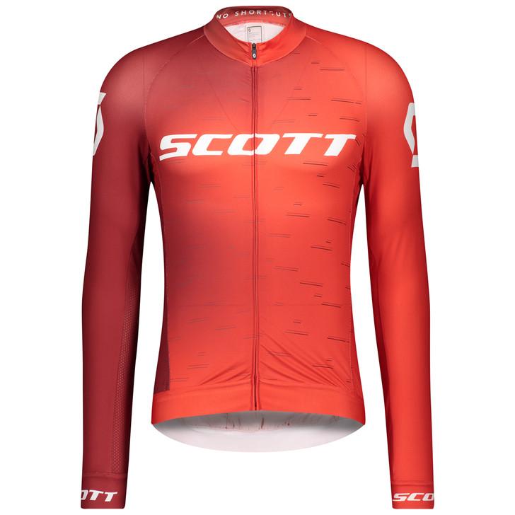 Scott RC Pro Long Sleeve Men's Shirt Fiery Red/White
