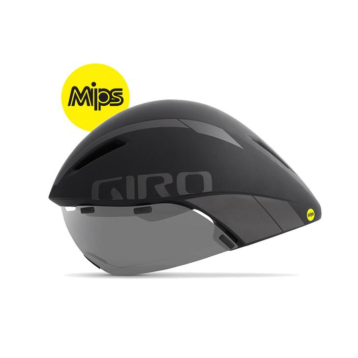Giro Aerohead MIPS Aero/Tri Cycling Helmet Black/Titanium