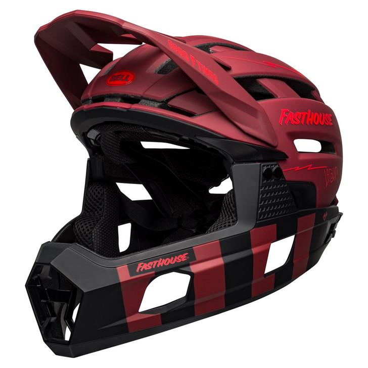 Bell Super Air R MIPS Mountain Bike Full Face Helmet Fasthouse Matte Red/Black